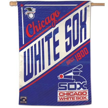 """Chicago White Sox / Cooperstown Vertical Flag 28"""" x 40"""""""