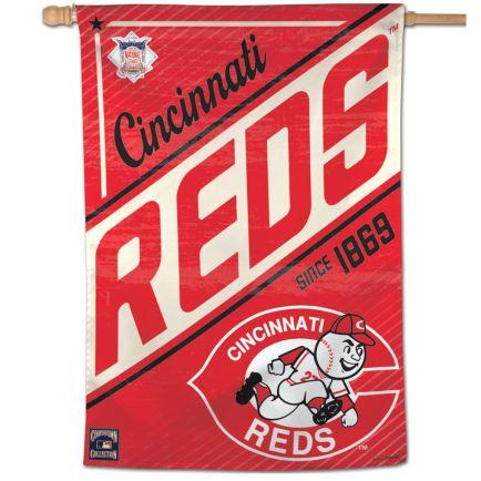 """Cincinnati Reds / Cooperstown Vertical Flag 28"""" x 40"""""""