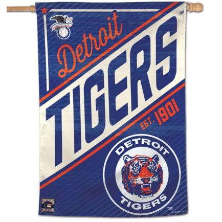 "Detroit Tigers / Cooperstown Vertical Flag 28"" x 40"""