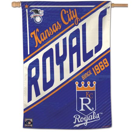 "Kansas City Royals / Cooperstown Vertical Flag 28"" x 40"""