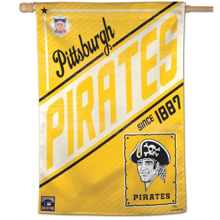 "Pittsburgh Pirates / Cooperstown Vertical Flag 28"" x 40"""
