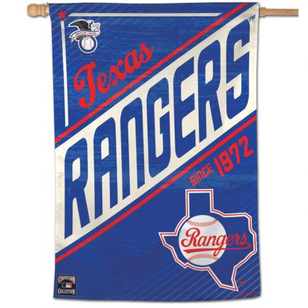 "Texas Rangers / Cooperstown Vertical Flag 28"" x 40"""