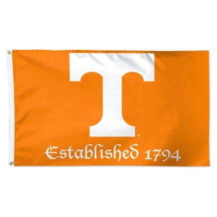 Tennessee Volunteers ESTABLISHED Flag - Deluxe 3' X 5'