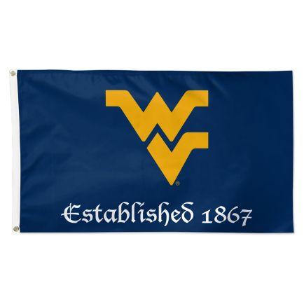 West Virginia Mountaineers ESTABLISHED Flag - Deluxe 3' X 5'