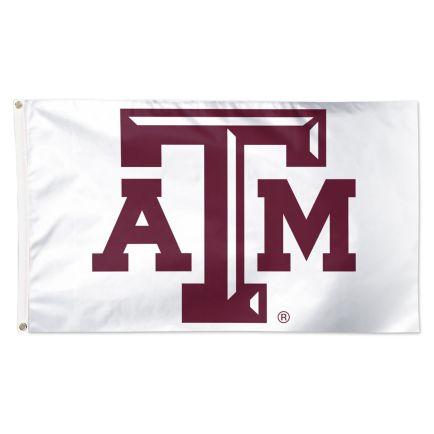 Texas A&M Aggies WHITE Flag - Deluxe 3' X 5'
