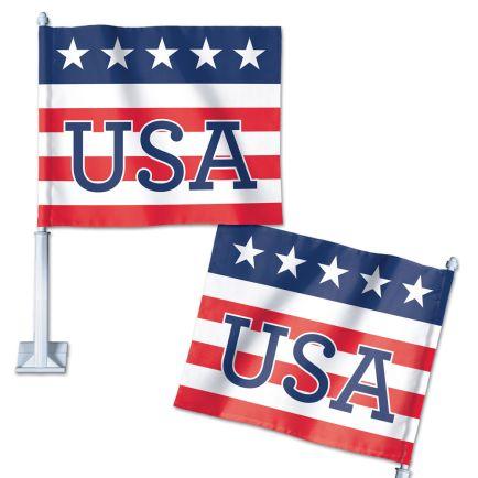 "Patriotic Car Flag 11.75"" x 14"""