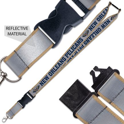 """New Orleans Pelicans Lanyard w/ Buckle Reflective 1"""""""