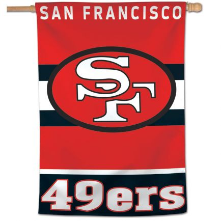 "San Francisco 49ers / Classic Logo Retro Vertical Flag 28"" x 40"""