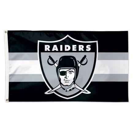 Las Vegas Raiders / Classic Logo Retro Flag - Deluxe 3' X 5'