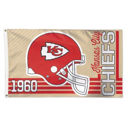 Kansas City Chiefs / Classic Logo Retro look Flag - Deluxe 3' X 5'
