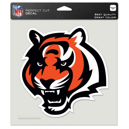"""Cincinnati Bengals 2nd Design Perfect Cut Color Decal 8"""" x 8"""""""