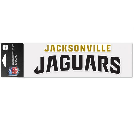 "Jacksonville Jaguars Wordmark Design Perfect Cut Decals 3"" x 10"""