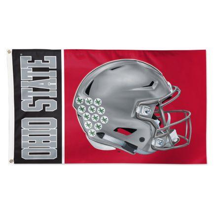 Ohio State Buckeyes OHIO STATE HELMET Flag - Deluxe 3' X 5'