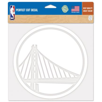 "Golden State Warriors Perfect Cut Decals 8"" x 8"""