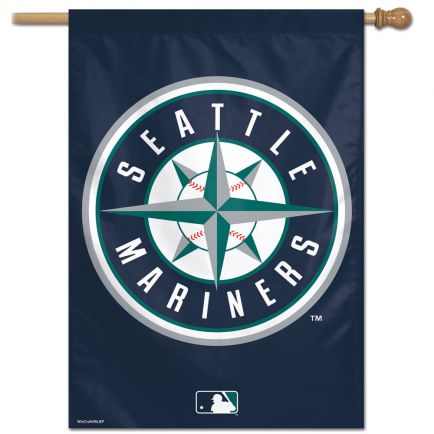 "Seattle Mariners Vertical Flag 28"" x 40"""