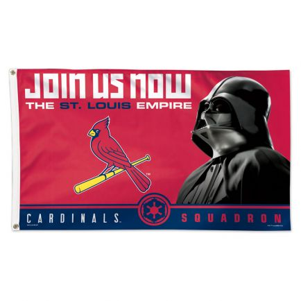 St. Louis Cardinals / Star Wars Vader Flag - Deluxe 3' X 5'