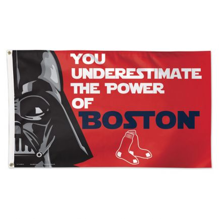Boston Red Sox / Star Wars Darth Vader Flag - Deluxe 3' X 5'
