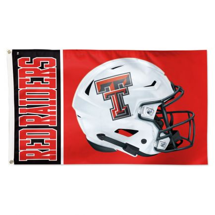Texas Tech Red Raiders HELMET Flag - Deluxe 3' X 5'