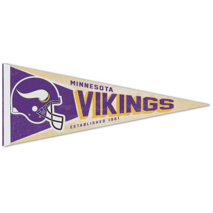 "Minnesota Vikings / Classic Logo RETRO Premium Pennant 12"" x 30"""