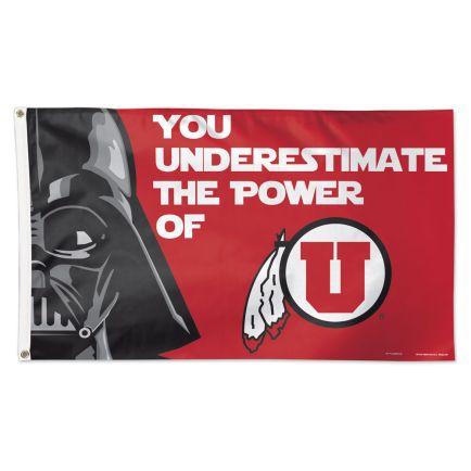 Utah Utes / Star Wars DARTH VADER Flag - Deluxe 3' X 5'