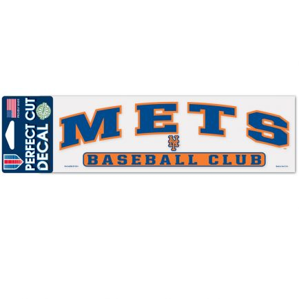 """New York Mets Arched Perfect Cut Decals 3"""" x 10"""""""