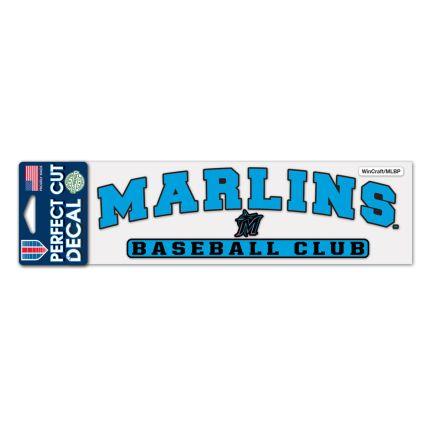 "Miami Marlins Perfect Cut Decals 3"" x 10"""