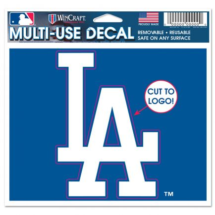 "Los Angeles Dodgers Multi-Use Decal - cut to logo 5"" x 6"""