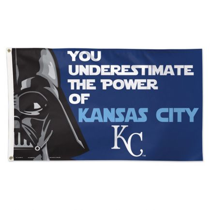 Kansas City Royals / Star Wars Darth Vader Flag - Deluxe 3' X 5'