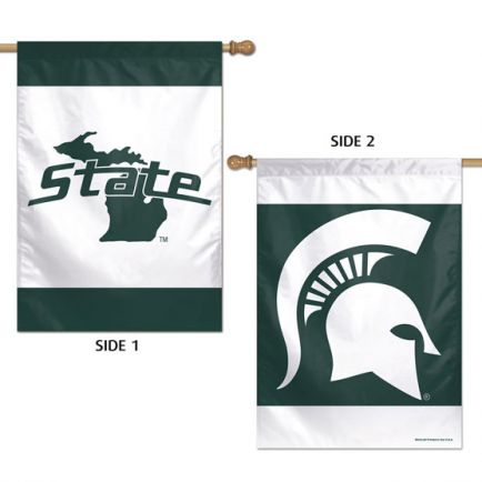 """Michigan State Spartans Vertical Flag 2 Sided 28"""" x 40"""""""