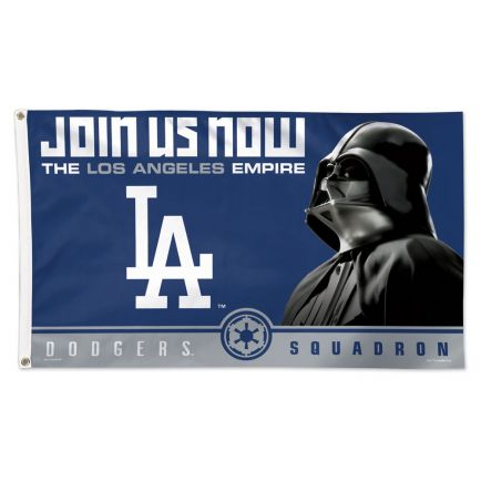 Los Angeles Dodgers / Star Wars Vader Flag - Deluxe 3' X 5'