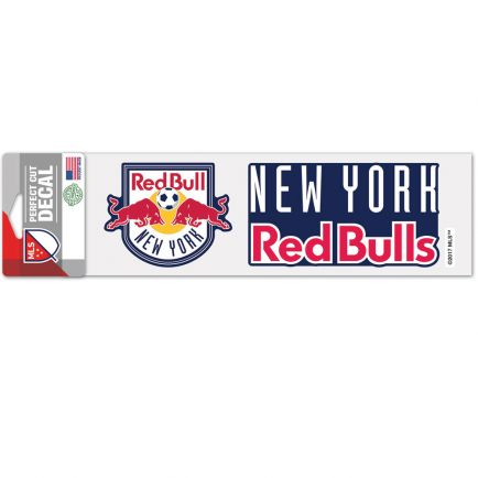 """New York Red Bulls Perfect Cut Decals 3"""" x 10"""""""