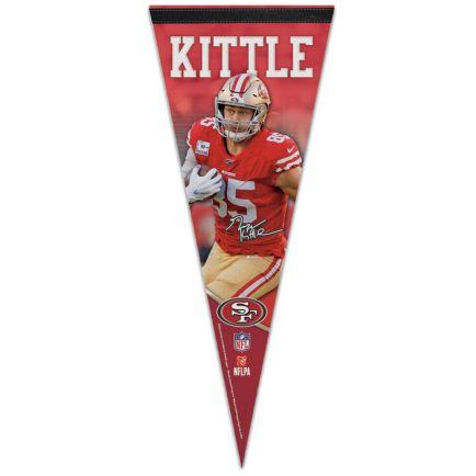 "San Francisco 49ers Premium Pennant 12"" x 30"" George Kittle"