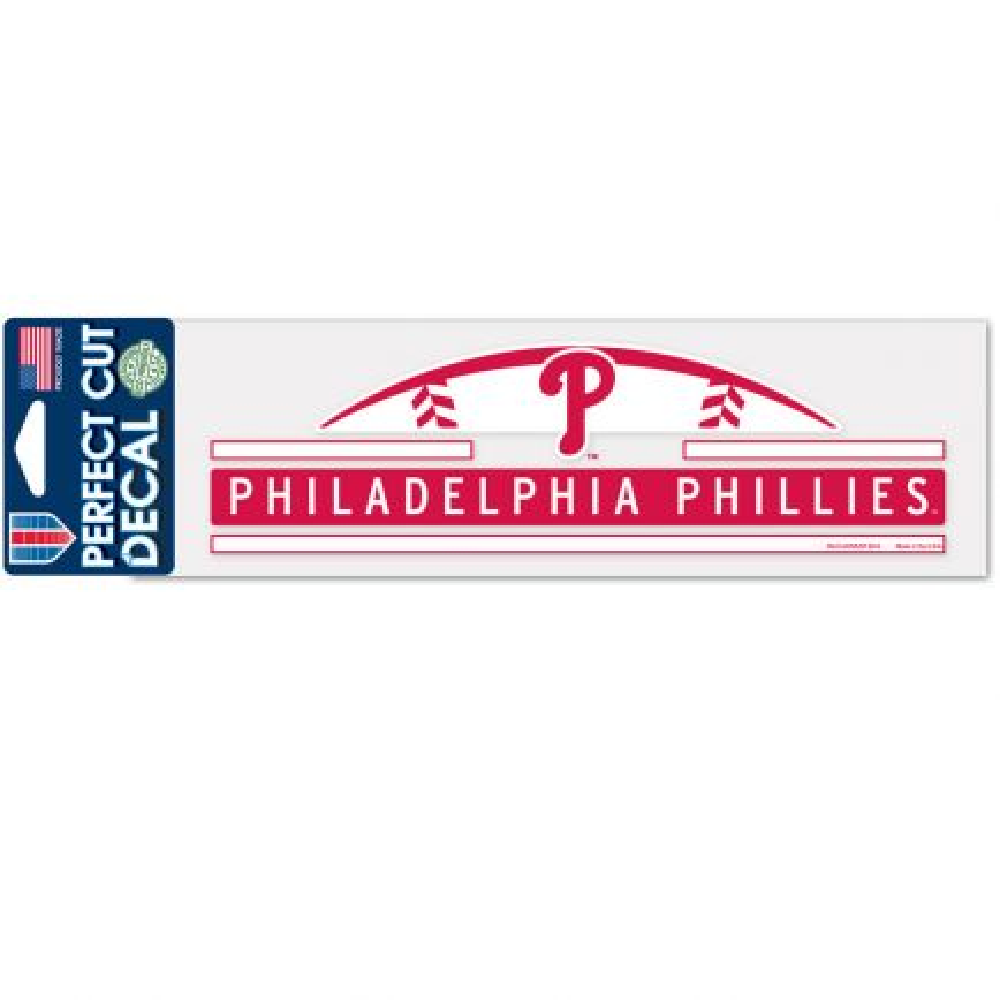 "Philadelphia Phillies Perfect Cut Decals 3"" x 10"""