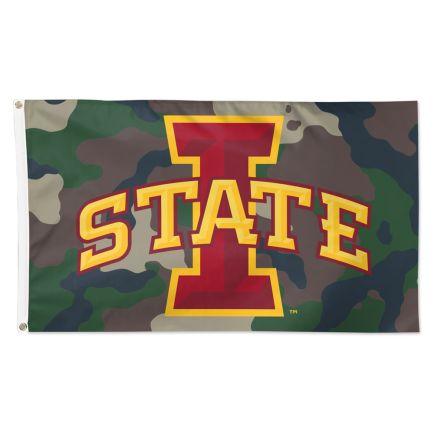 Iowa State Cyclones Camo Flag - Deluxe 3' X 5'