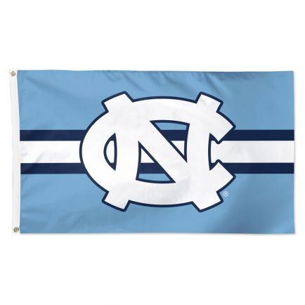 North Carolina Tar Heels Horizontal Jersey Stripes Flag - Deluxe 3' X 5'