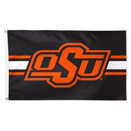 Oklahoma State Cowboys Horizontal Jersey Stripes Flag - Deluxe 3' X 5'