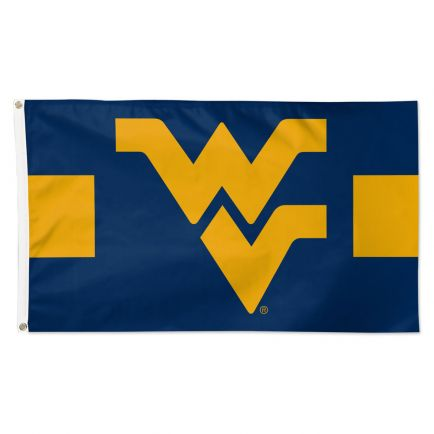 West Virginia Mountaineers Horizontal Jersey Stripes Flag - Deluxe 3' X 5'