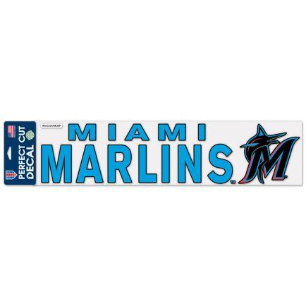 "Miami Marlins Perfect Cut Decals 4"" x 17"""