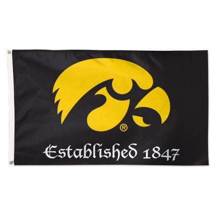 Iowa Hawkeyes ESTABLISHED 1847 Flag - Deluxe 3' X 5'
