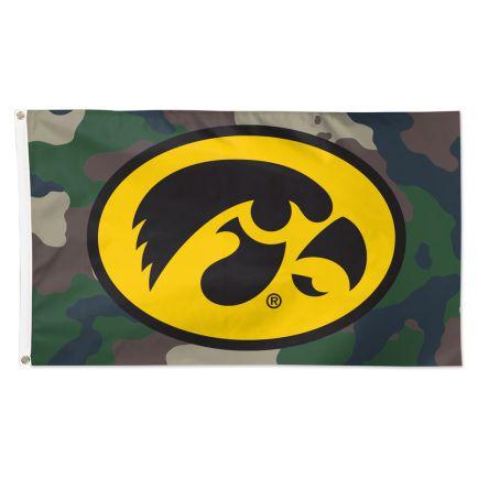 Iowa Hawkeyes CAMOUFLAGE Flag - Deluxe 3' X 5'