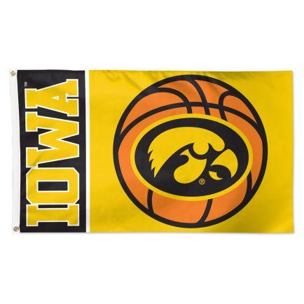 Iowa Hawkeyes BASKETBALL Flag - Deluxe 3' X 5'