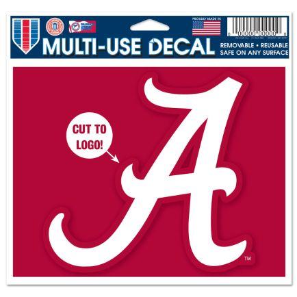 "Alabama Crimson Tide Multi-Use Decal - cut to logo 5"" x 6"""