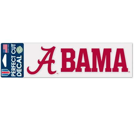 "Alabama Crimson Tide Stacked Design Perfect Cut Decals 3"" x 10"""