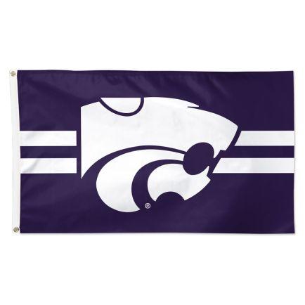 Kansas State Wildcats Horizontal Jersey Stripes Flag - Deluxe 3' X 5'
