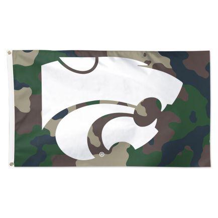 Kansas State Wildcats camo Flag - Deluxe 3' X 5'
