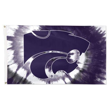 Kansas State Wildcats tyedye Flag - Deluxe 3' X 5'