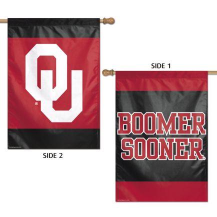 "Oklahoma Sooners Vertical Flag 2 Sided 28"" x 40"""