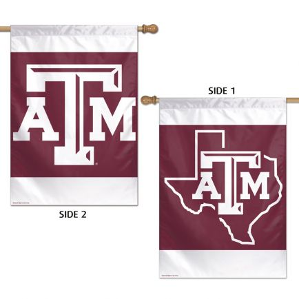 """Texas A&M Aggies Vertical Flag 2 Sided 28"""" x 40"""""""