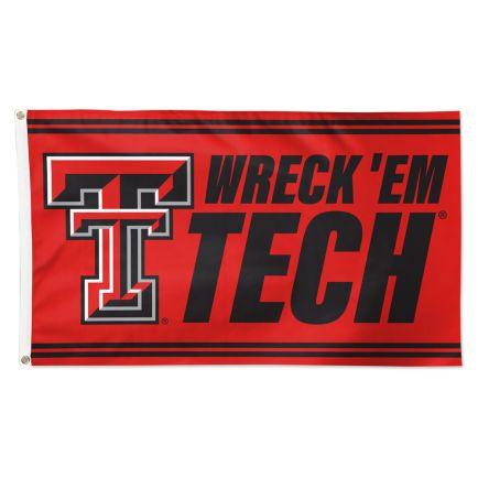 Texas Tech Red Raiders SLOGAN Flag - Deluxe 3' X 5'