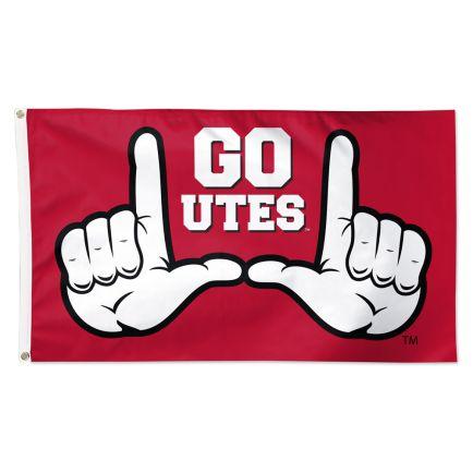 Utah Utes SLOGAN Flag - Deluxe 3' X 5'